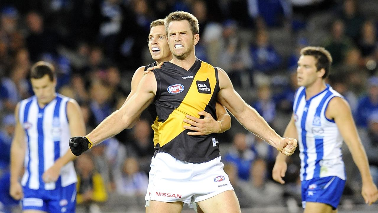 Joel Bowden in his final season at Richmond.