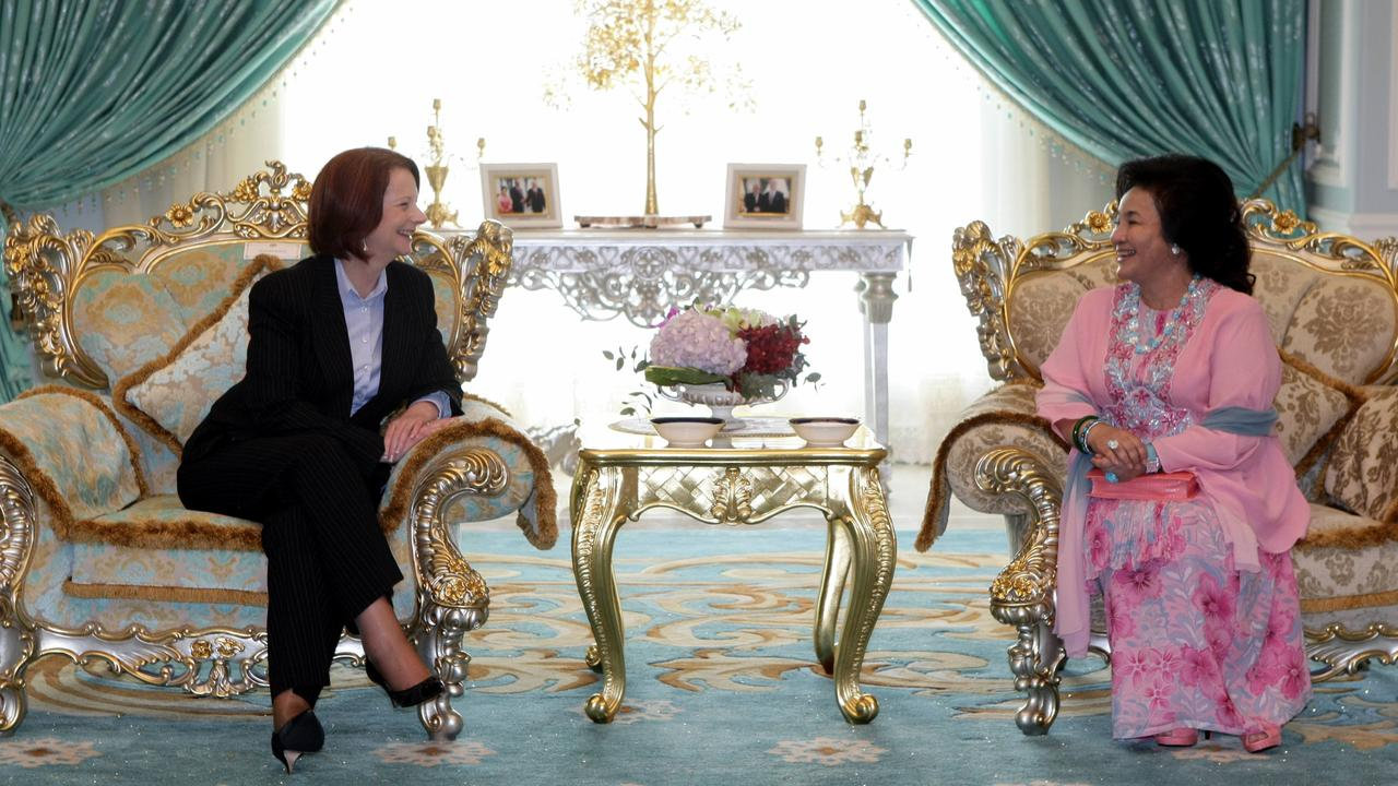 Former Australian prime minister Julia Gillard met with Rosmah Mansor during her term. Picture: Supplied
