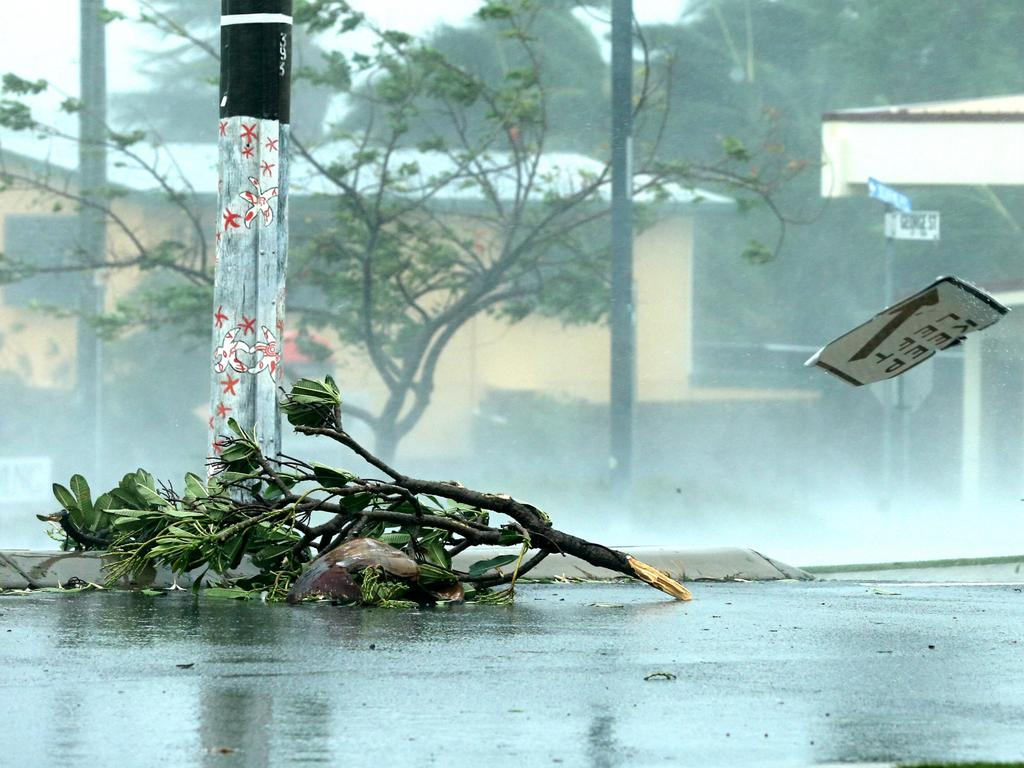 FORECAST: Damage in Bowen during Cyclone Debbie. Two to three tropical cyclones are expected to form off the Queensland coast this summer. Lyndon Mechielsen/The Australian