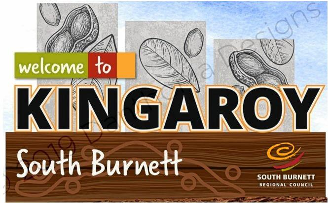 The design for the new sign for Kingaroy will highlight peanuts.