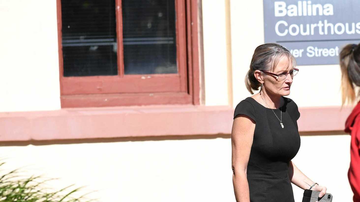 Alstonville woman Julianne Marree Butler, left, outside Ballina Court.
