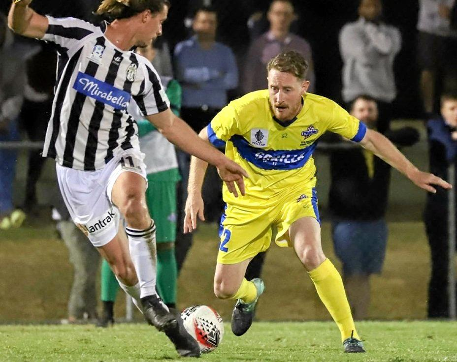 REDBACK: Former Kingaroy junior player , Chris Maher will play in the FFA Cup semi final with the Brisbane Strikers against Melbourne City FC.