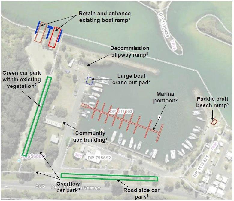 SAFE HARBOUR: The preferred plan for the upgrade to Brunswick Heads Boat Harbour as per the draft master plan publicised in 2018.