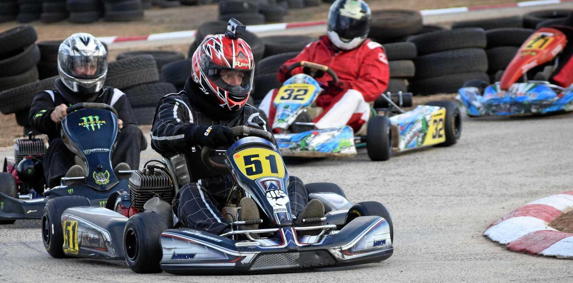 Open kart racing.