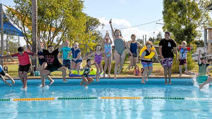 Mundubbera jumps in the pool to celebrate 50 years