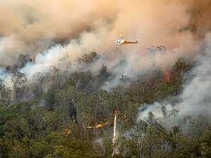 RFS Air Attack Long Gully Road Fire