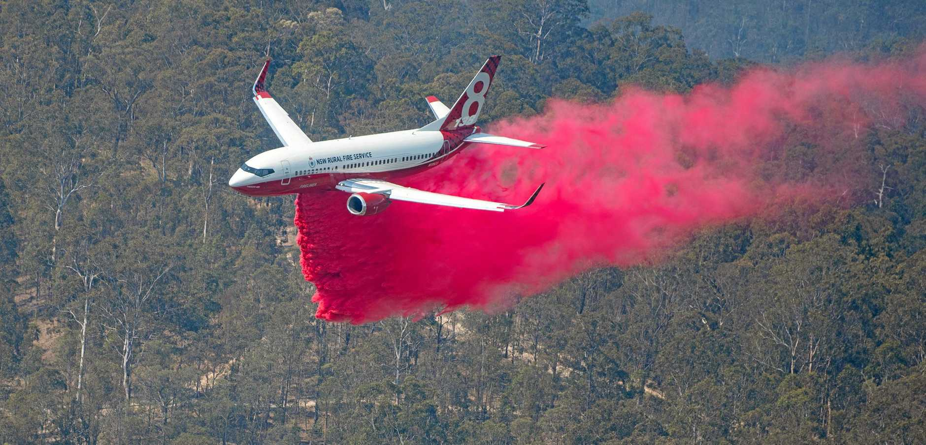 AIR ATTACK: The NSW Rural Fire Service used a number of different aviation attacks to fight the Long Gully Road Fire  and assist ground crews to maintain containment lines and protect life and property.