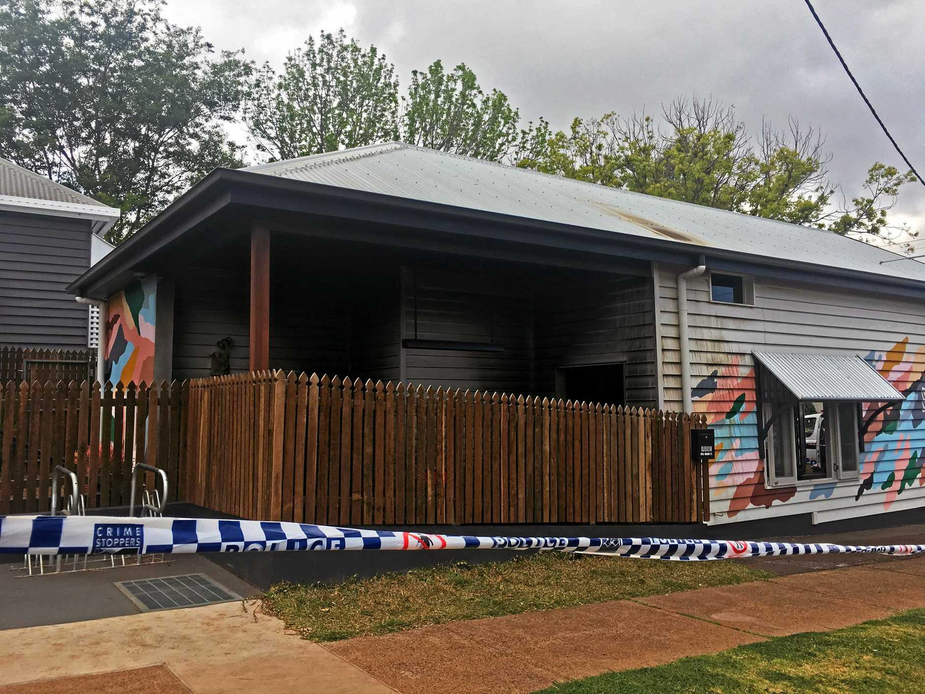 INVESTIGATIONS CONTINUE: Burrow cafe will remain closed until further notice as police hunt for information on the suspicious fire.