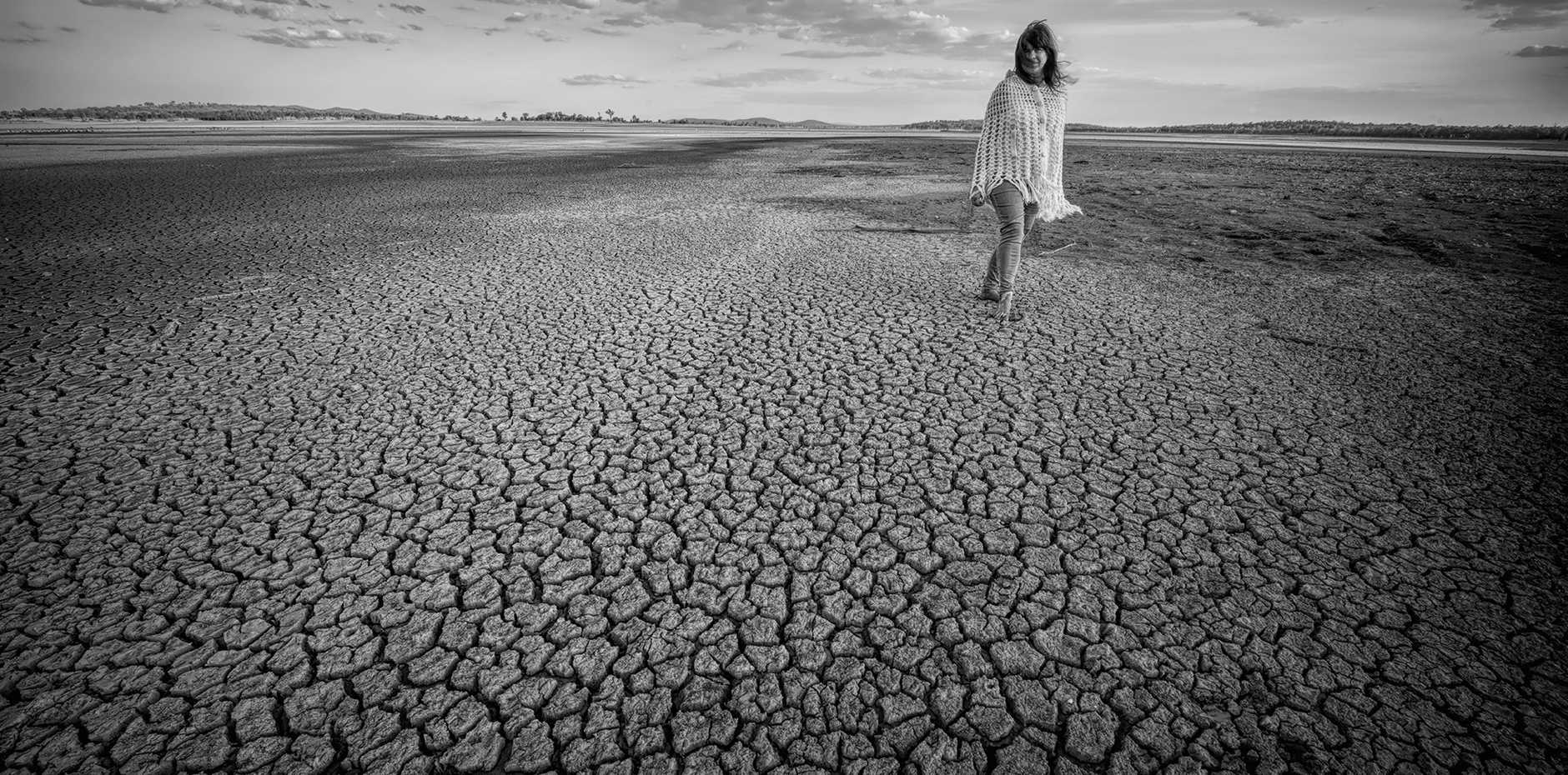 Christine Turner's photos show the devastation of the drought on Coolmunda Dam.