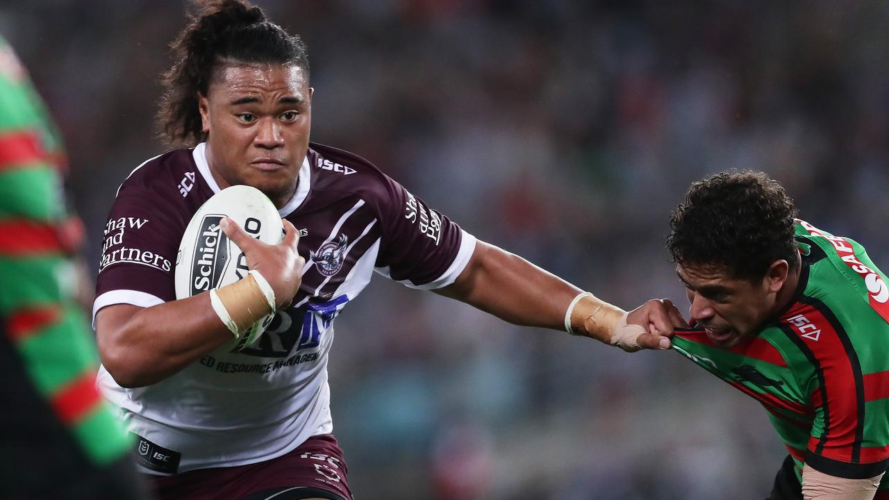 Moses Suli had a mixed night for the Sea Eagles. Picture: Getty Images