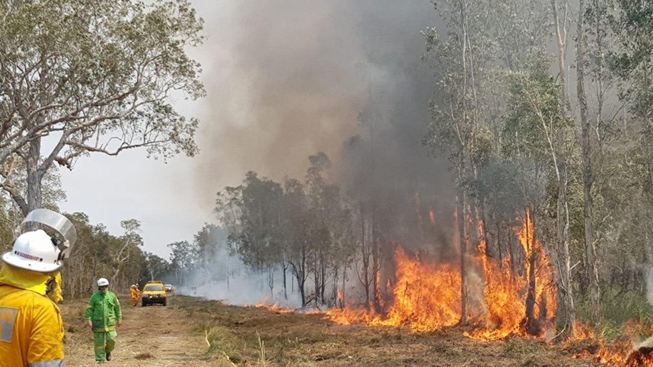 Backburning north of Teewah village on Noosa North Shore last week, posted online by Michael Hancock.