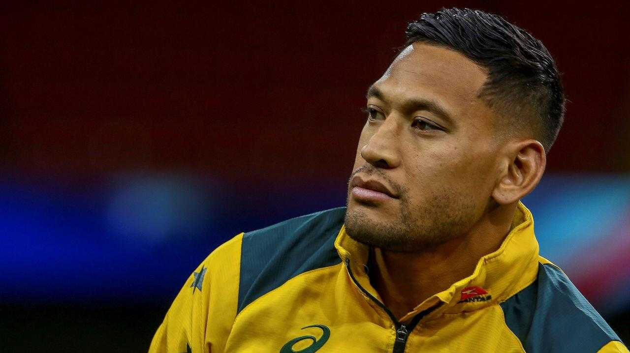 Israel Folau may make a shock return to rugby league with Tonga. Picture: AFP