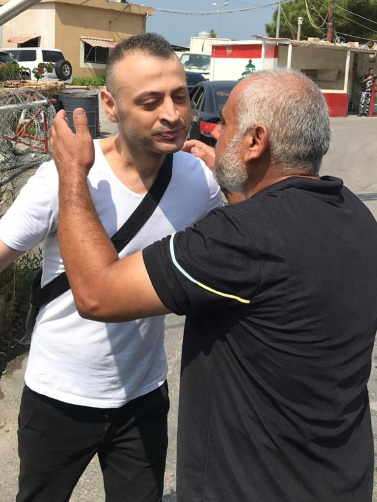 Amer Khayat is released from prison in Beirut in July 2017. Picture: Stephen Drill