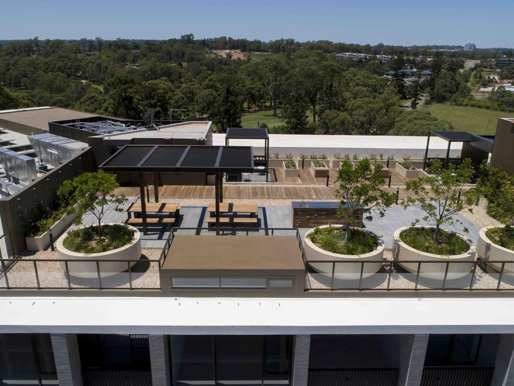 Residents have started moving into The Orchards which has fruit trees growing on its rooftop