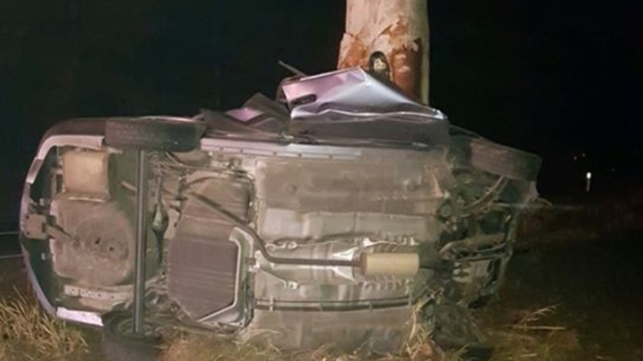 A 19-year-old overseas man died in the horrific crash on Beerburrum Rd at Elimbah on Sunday night. Photo: Contributed