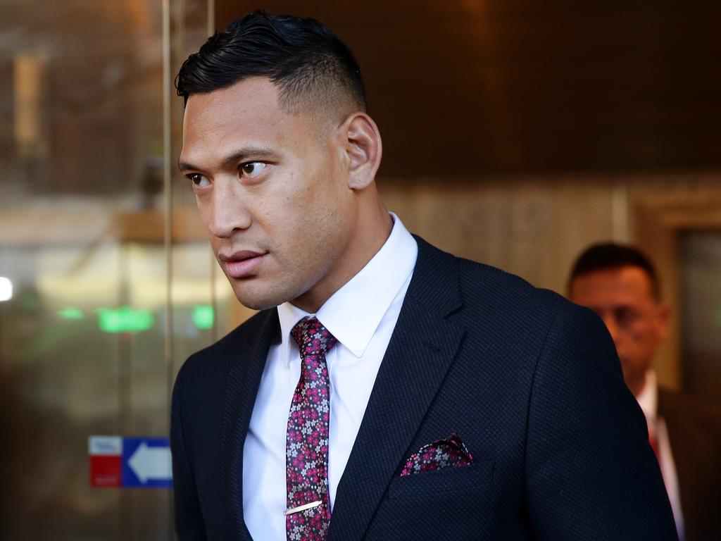 Israel Folau was sacked for posting a photo on Instagram that said homosexuals would go to hell. Picture: Jonathan Ng