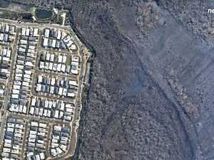 Stark contrast: Before and after Peregian bushfires