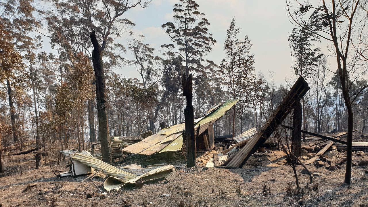 Mark Graham lost much of his Billys Creek conservation block including his cabin.