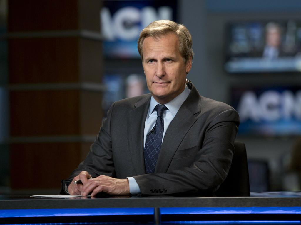 Jeff Daniels as Will McAvoy in season two of The Newsroom. Picture: Supplied/Foxtel