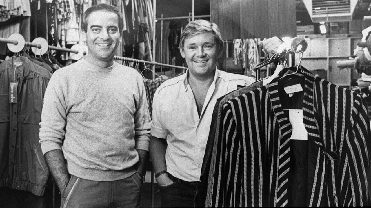 SA fashion designers George Gross with Harry Watt. Picture: Nowell Grant