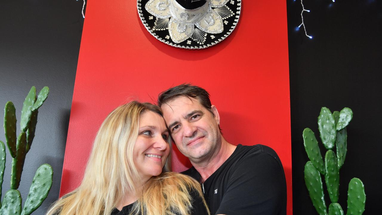 Troy Hofstede and Virginia Homer are fine with spending every waking moment with each other at La Salsa De Vida in Nambour. Photo: John McCutcheon