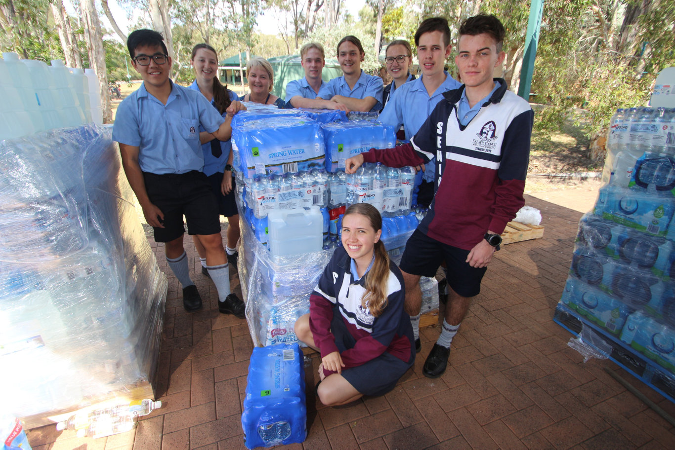COMMUNITY SUPPORT: The Fraser Coast Anglican College is collecting sealed water bottles for Stanthorpe and its surrounding areas.