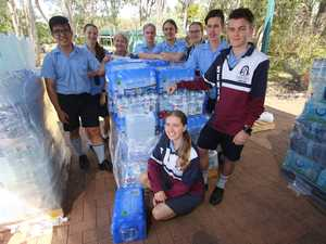 College students collect water bottles to drench drought