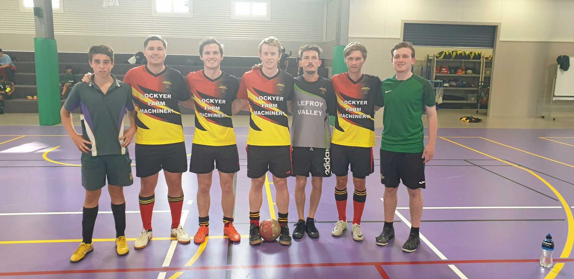 BIG WIN: Gatton Redbacks footsal team took on the Lockyer District High School junior and senior teams last week in two friendly five-a-side games.