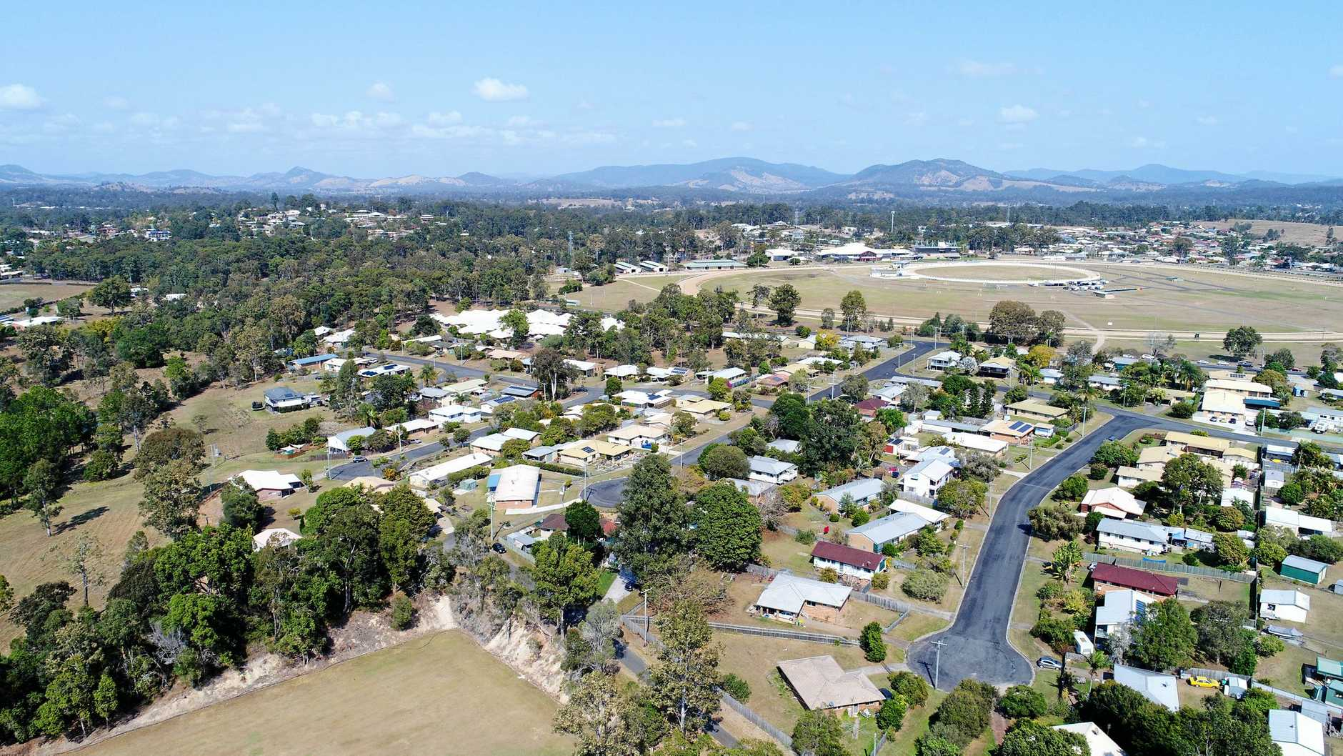 Aerial footage of Southside, Gympie.