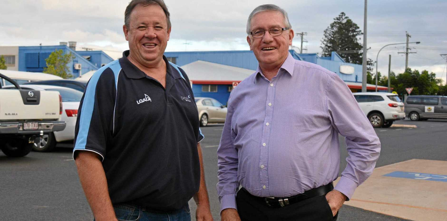 ON THE ROAD: Cr Gavin Jones and Mayor Keith Campbell believe the South Burnett Regional Council region is on track to have one of the better road networks in Queensland.