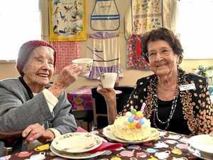 Tea-rrific celebrations for Toowoomba woman's 100th birthday