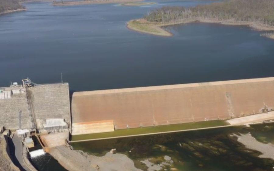 Paradise Dam drone footage.