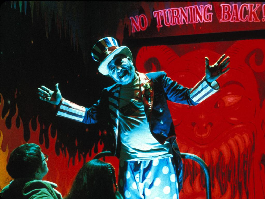 Sid Haig as Captain Spaulding in a scene from House of 1000 Corpses. Picture: Supplied