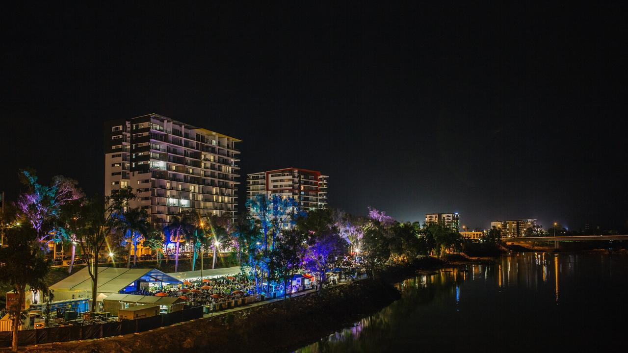 Rockhampton's riverfront during the Capricorn Food and Wine Festival.
