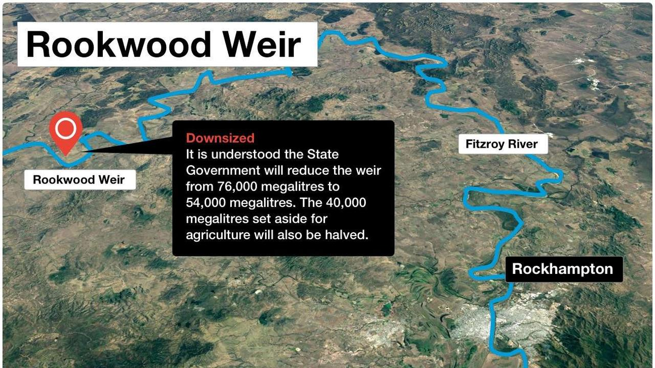 CHANGE OF PLANS: A revised plan for the Rookwood Weir project was expected to have a reduced water capacity.