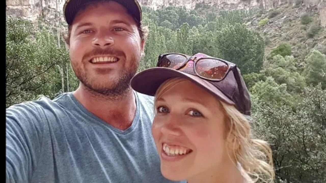 Matthew, seen with wife Karen, has been the target of unsubstantianted rumour and innuendo in the aftermath of her murder. Picture: Facebook