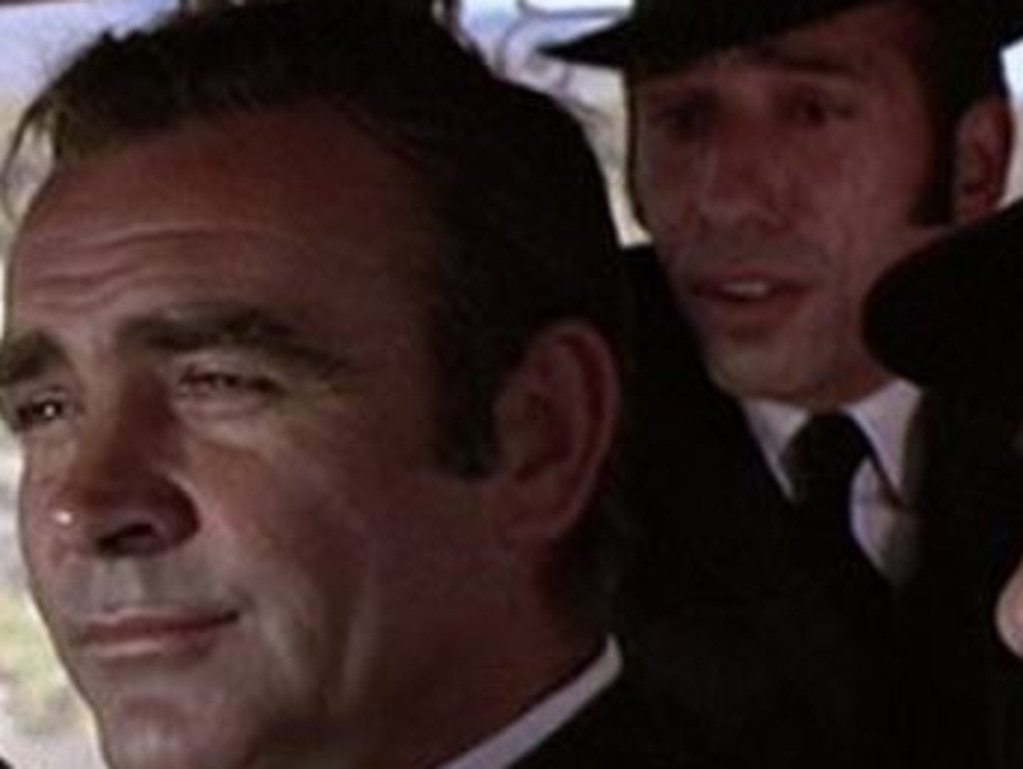 Sid Haig (right) with Sean Connery in Diamonds Are Forever. Picture: Instagram