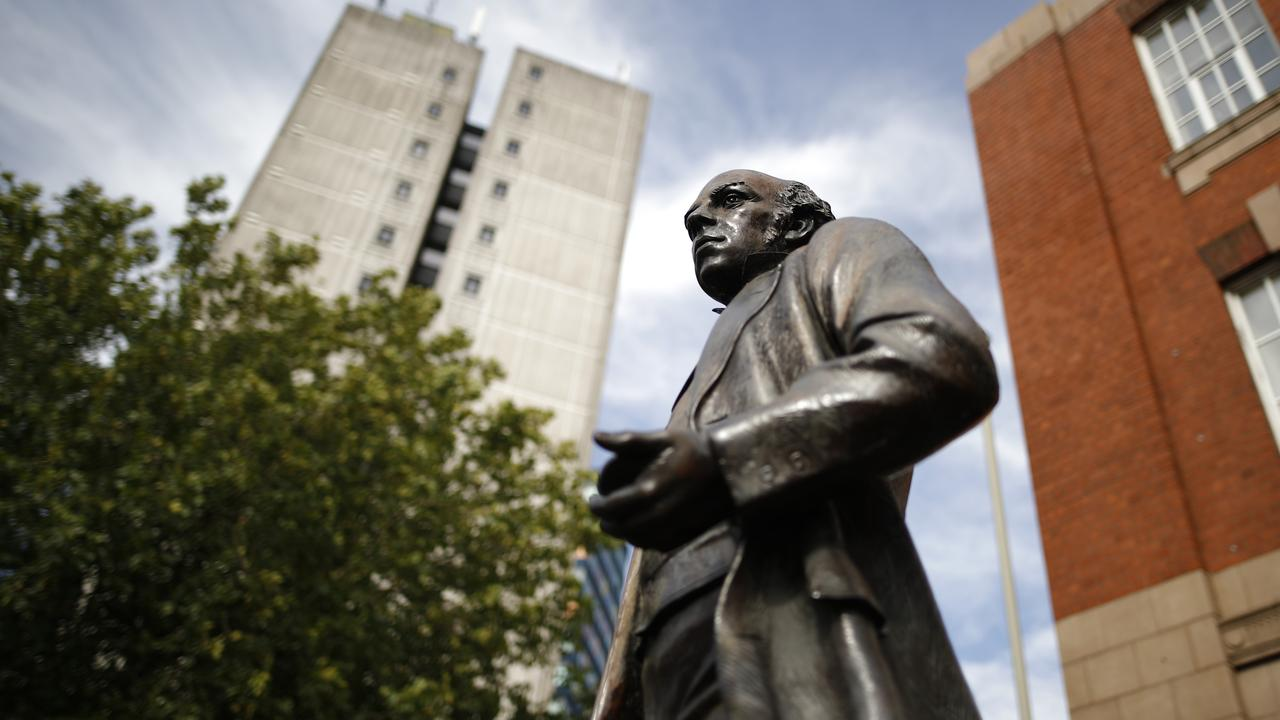 A statue of Thomas Cook in Leicester, UK, the city where he began his business in the 19th century. Picture: Darren Staples/Getty Images