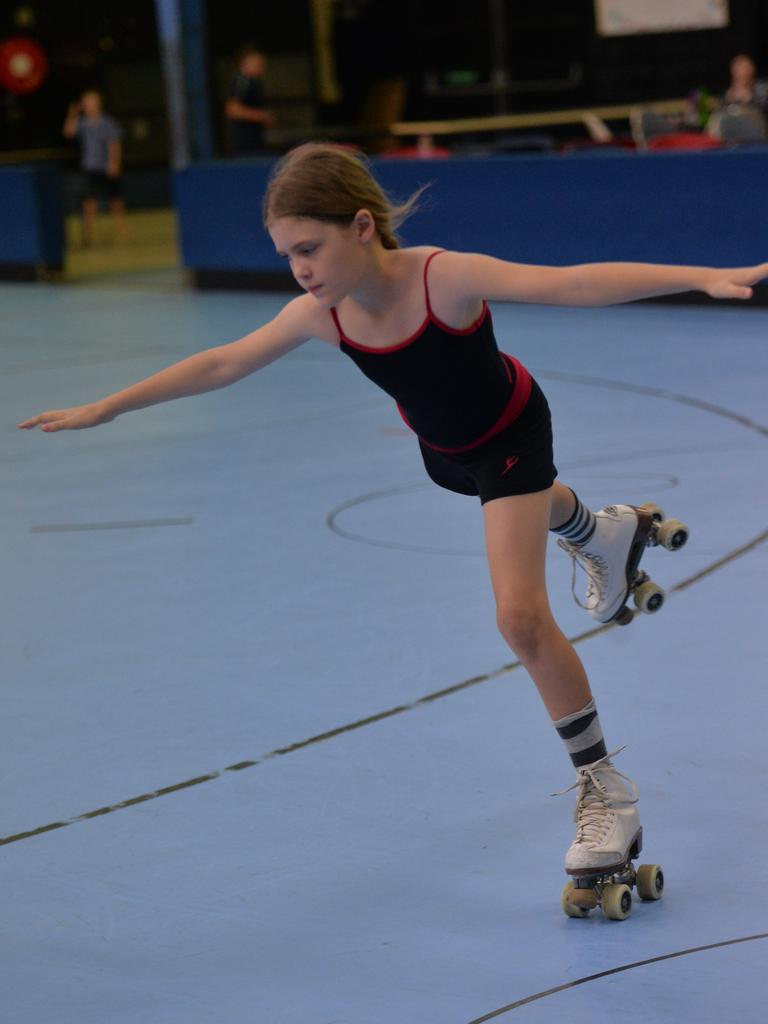 Tayliah Trulson shows her moves at the Mackay Leisure Centre.