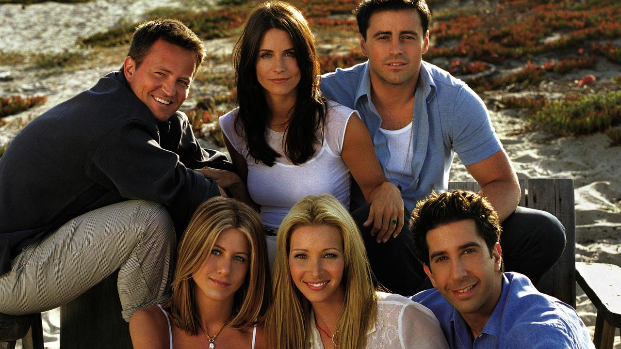 Friends cast members (top) Matthew Perry, Courteney Cox, Matt LeBlanc, (bottom) Jennifer Aniston, Lisa Kudrow and David Schwimmer are still bringing in the big bucks.