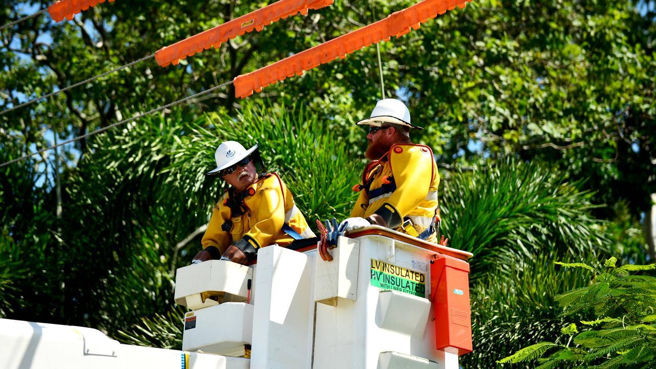 Ergon Energy crews working to restore power.