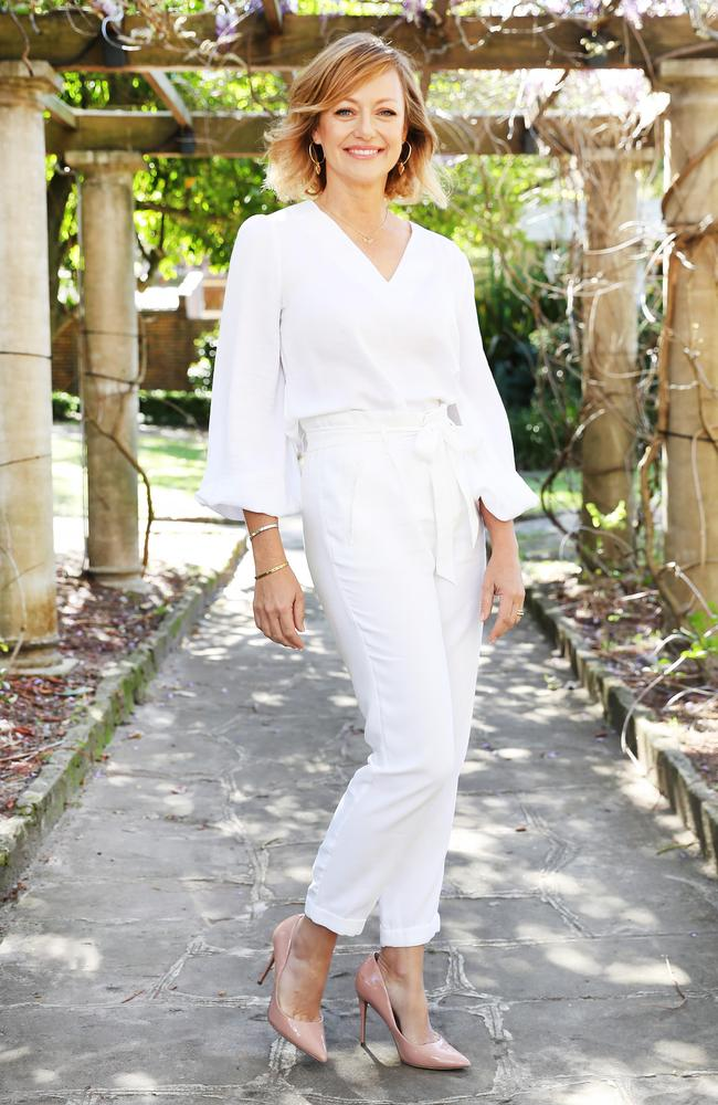 TV host Shelley Craft in the grounds of Chiswick Restaurant. Picture Rohan Kelly