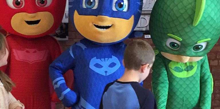 Kids will have an opportunity to meet the PJ Masks crew at Caneland Central these school holidays.