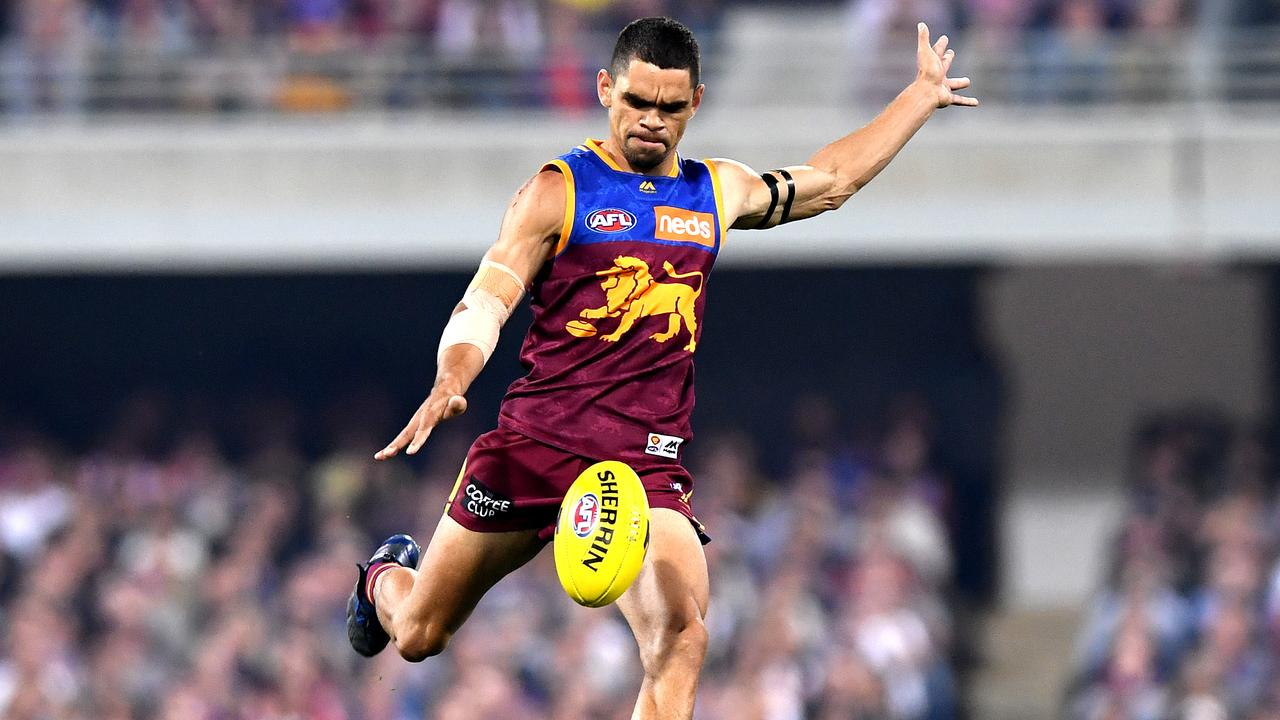 Charlie Cameron of the Lions in action during the AFL Semi Final match between the Brisbane Lions and the Greater Western Sydney Giants at The Gabba on September 14, 2019 in Brisbane, Australia. Picture: Bradley Kanaris/Getty Images.