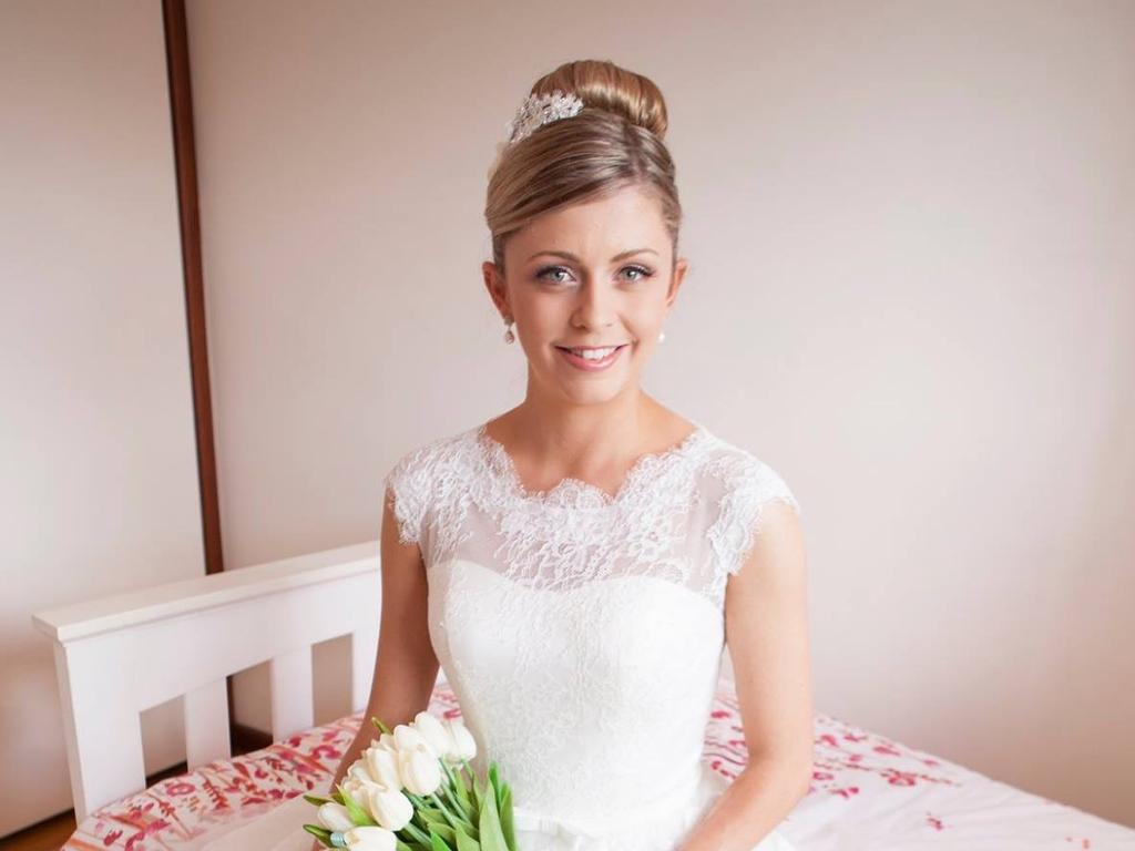 Sarah Nix pictured on her wedding day. Picture: Supplied/Insight