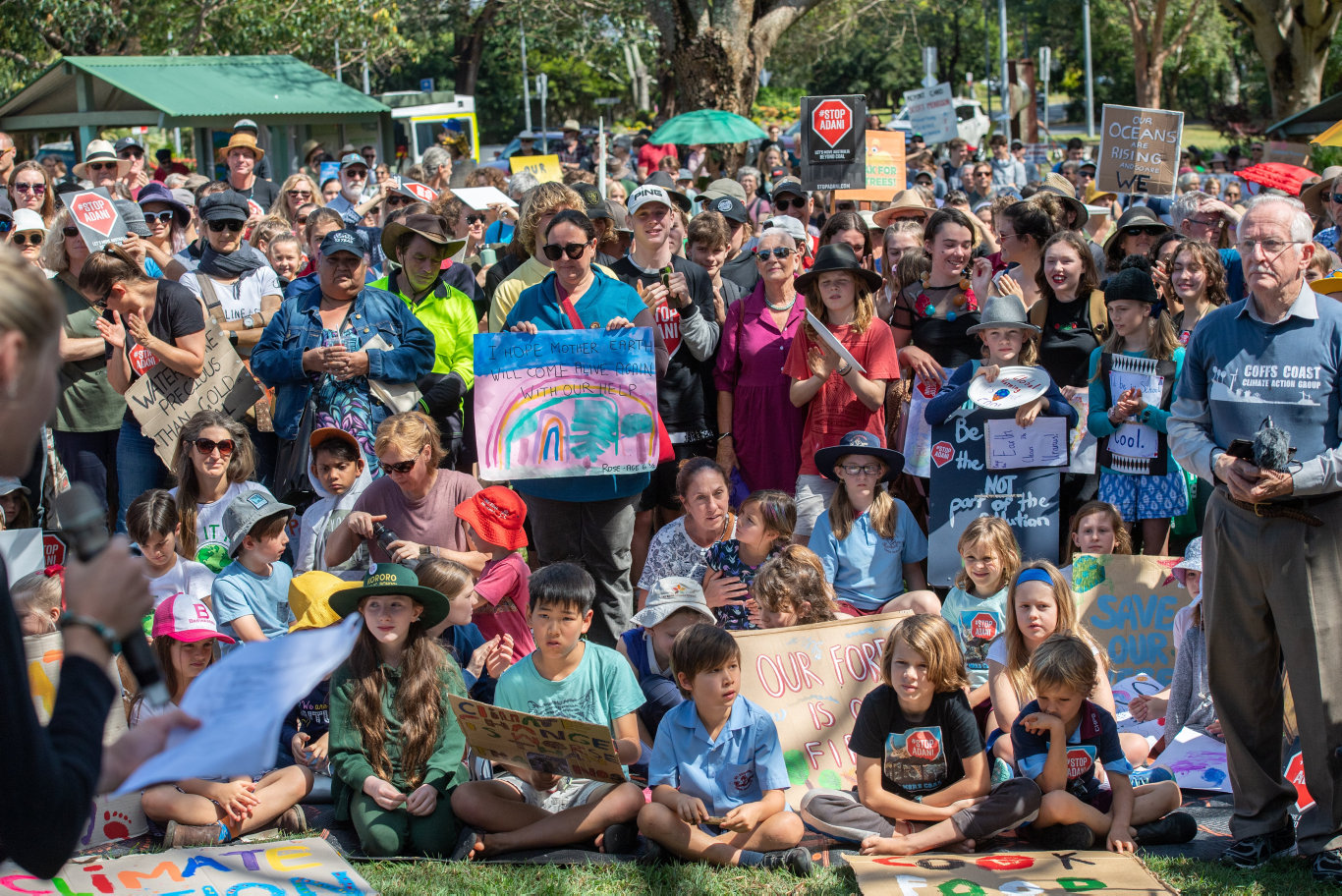 The Climate Action strike in Coffs Harbour.