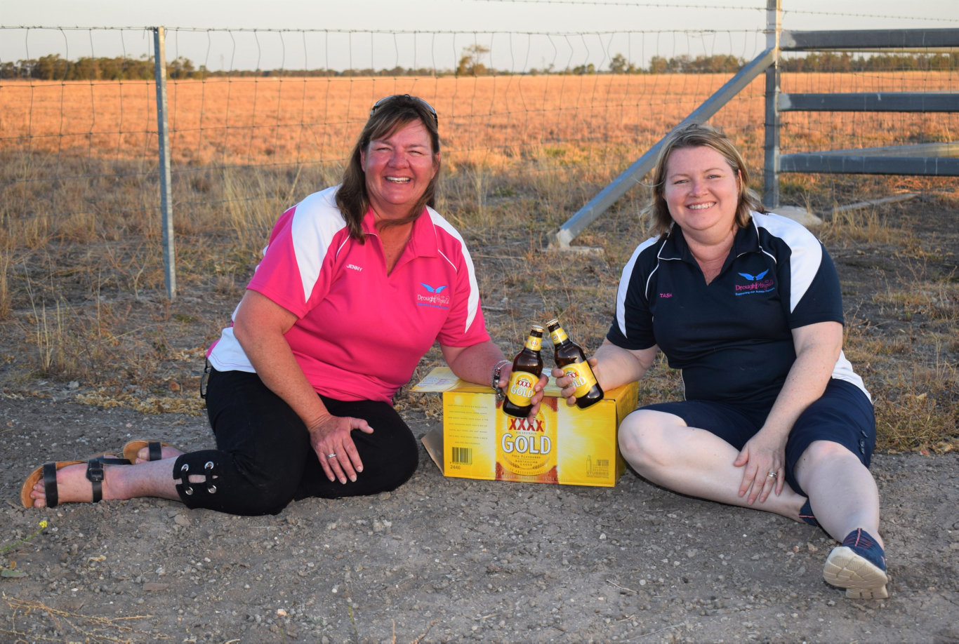 GOLDEN GIRLS: Drought Angels Jennifer Gailey and Tash Johnston are expecting a delivery of liquid gold tomorrow afternoon!
