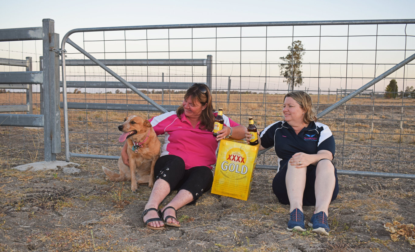 Drought Angels Jennifer Gailey and Tash Johnston said the generous contribution from XXXX will be a great way to give farmers a little extra boost through the ongoing drought period.