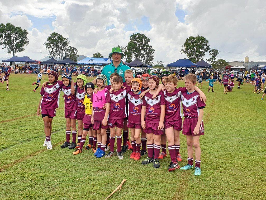Dalby Devils with former Cowboys and QLD Centre Paul Bowman.