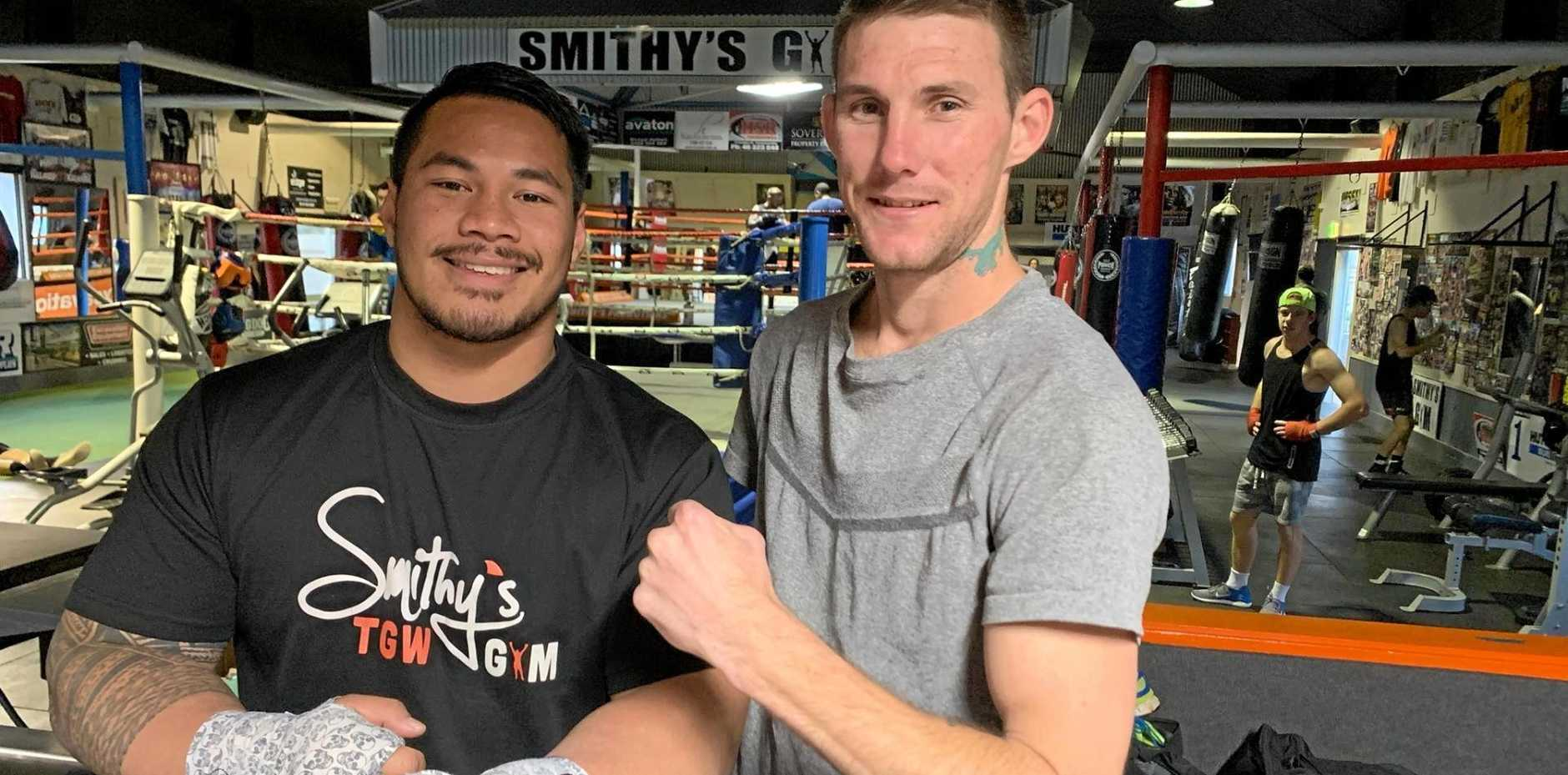 TGW & Smithy's Gym team members Herman Ene-Purcell (left) and Brent Moore.